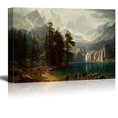 Sierra Nevada in California by Albert Bierstadt Giclee Canvas Prints Wrapped Gallery Wall Art, Stretched & Framed Ready to Hang, 16