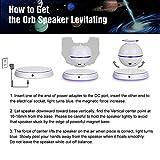 Floating Speaker UPPEL Portable Levitating Floating Bluetooth4.0 Speaker Levitation Maglev Speaker Multicolor LED 360 Degree Rotating Stereo Speaker (White)