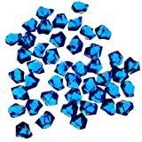 decorative gem blue - 1 X Translucent Royal Blue Acrylic Ice Rocks for Vase Fillers or Table Scatters