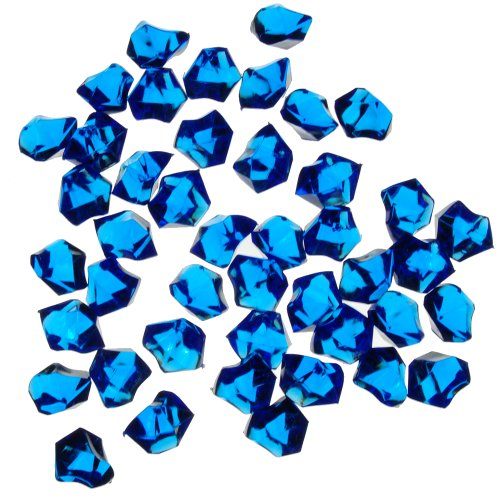1 X Translucent Royal Blue Acrylic Ice Rocks for Vase Fillers or Table (Acrylic Crushed Ice)