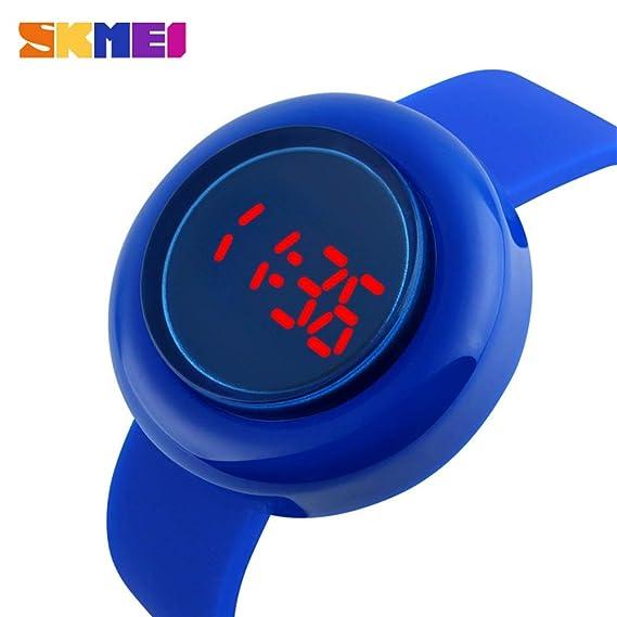 MOZISEN Relojes Deportivos,Reloj de Moda Reloj electrónico SKMEI para Mujer Reloj LED Anti Color de Fruta: Amazon.es: Relojes