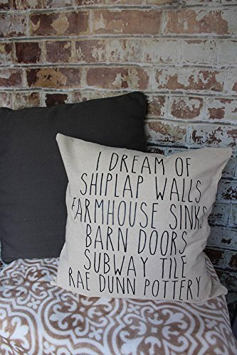 I dream of shiplap pillow COVER, Pillowcase, Home Decor, farmhouse style pillow cover, rustic, - House York Pizza Of