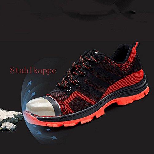 Hombre A De Trabajo Zapatillas Calzado Seguridad Ligeras Comodas Para 46 Antideslizante negro 35 qBP6wtdP