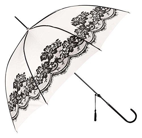 Abbott Collection Lace & Piping Umbrella, Pink