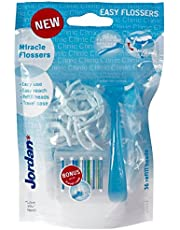 Jordan Clinc Mini Miracle dientes seda plana (Incluye 36hilo dental de repuesto)