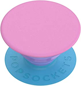 PopSockets: PopGrip with Swappable Top for Phones and Tablets - Colorblock Pink
