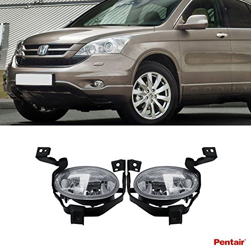 Pentair 2pcs Aftermarket JDM Clear Lens Fog Lights Kit With Light Bulbs+Switch+Wiring (Necessary Wiring)
