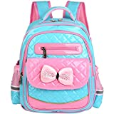 Vbiger Girls School Backpack Adorable Cute PU Leather Schoolbag for Primary School Students
