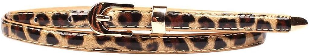 COMVIP Mujeres Imitación de cuero fina hebilla de la aleación de las bragas y vestidos de cintura de la correa
