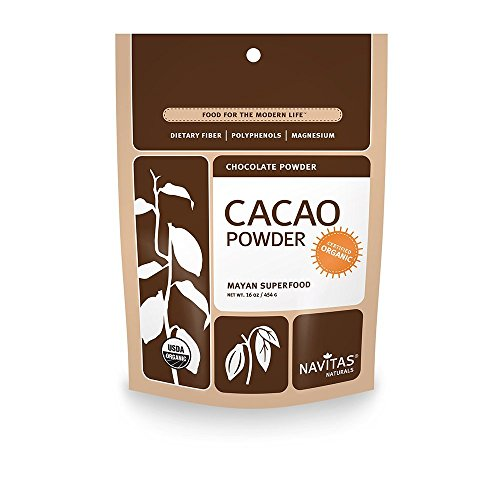 Navitas Naturals Organic Cacao Powder, 16-oz. Pouches (Pack of 4) by Navitas Naturals