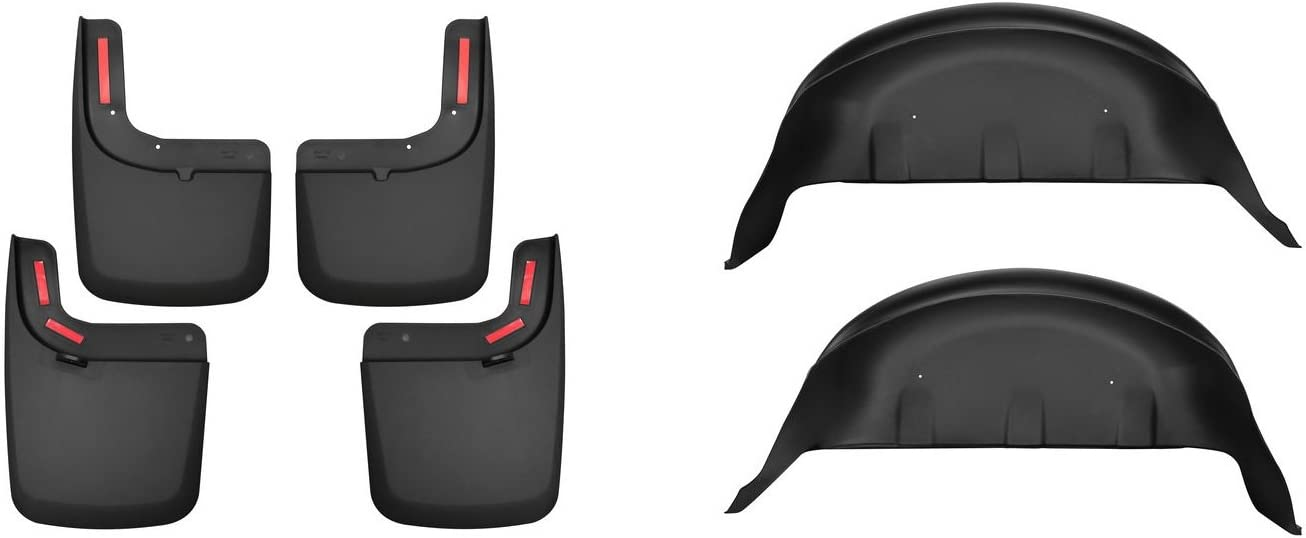 Husky Liners 58461 Black Front Mud Guards for Ford F-250//F-350 Super Duty