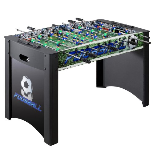 Soccer Action Foosball Table (Hathaway Playoff 4' Foosball Table, Soccer Game for Kids and Adults with Ergonomic Handles, Analog Scoring and Leg Levelers)