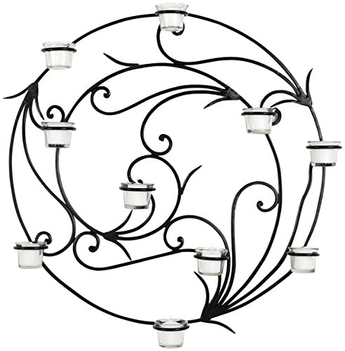 Safavieh Wall Art Collection Circular Candle Holder Wall - Iron Black Safavieh