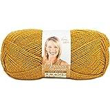 Lion Brand Yarn 861-171E Vanna's Glamour Yarn, Gold