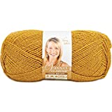 Lion Brand Yarn 861-171E Vanna's Glamour Yarn, Gold