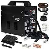 Goplus MIG 130 Welder AC Flux Core Wire Automatic Feed Welder Welding Machine w/ Free Mask Commercial (Black)