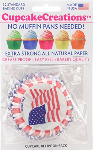 Cupcake Creations, Stars And Stripes Cupcake Cases, 32
