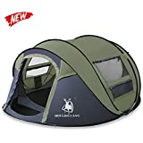 HUI LINGYANG Outdoor Four Person Pop Up Camping Tent - Easy, Automatic Setup -Ideal Shelter Casual Family Camping Hiking