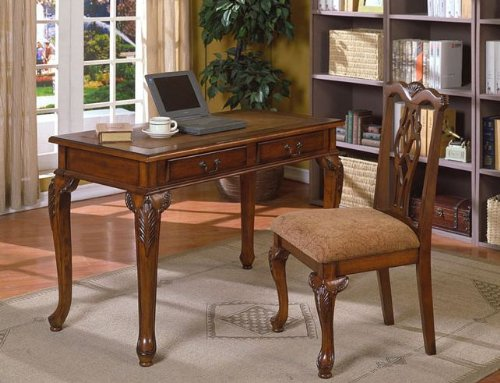 Traditional Queen Anne Writing Desk and Chair Value Bundle,