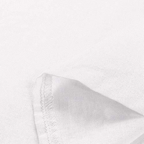 Solide Et Longues Chemise Chemise Boutonne Femmes Chemisier Blanc Casual Coton Manches Longues pour Rawdah Coton Boutons en Manches Pliss Lin Hauts Femme YwPxqtxT