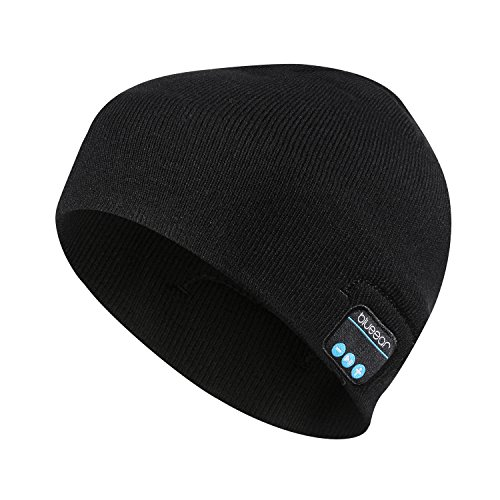 Bluetooth Beanie Hat Headphone blueear Wireless Winter Knit Hats with Stereo Speaker and MIC 8 Hours Working Time for Outdoor Sports -