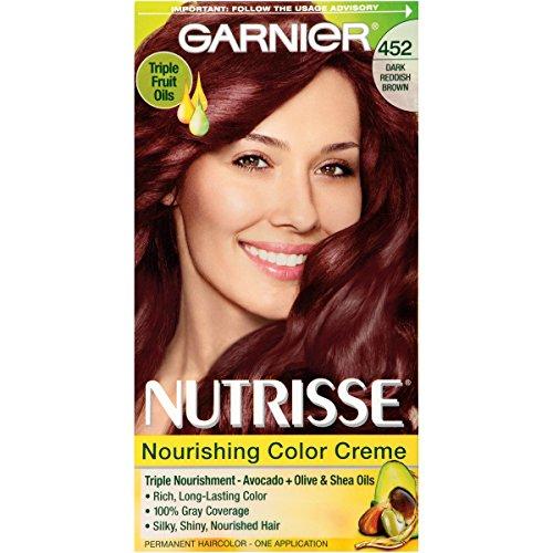 Garnier Nutrisse Nourishing Hair Color Creme, 452 Dark Re...