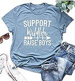 Support Wildlife Raise Boys T Shirt Women's Arrow Cute Letter Tops Tee (XX-Large)