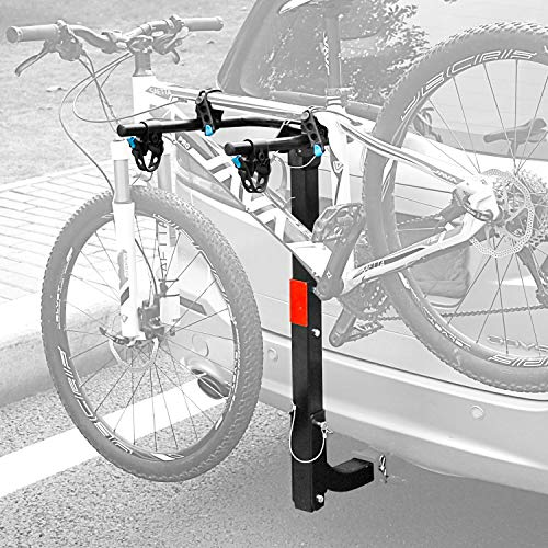 Leader Accessories Hitch Mounted 2 Bike Rack Bicycle Carrier Racks Foldable Rack for Cars, Trucks, SUV's and Minivans with 2