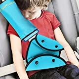 Seat Belt Adjuster and Pillow with Clip for Kids