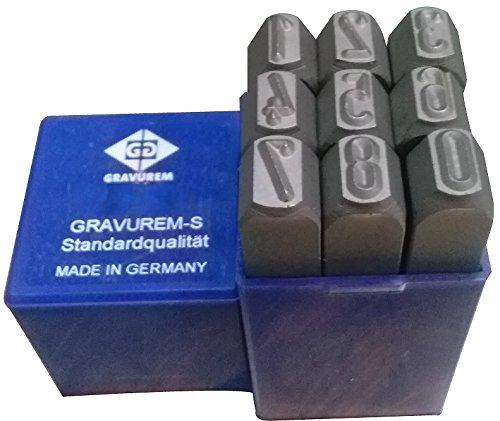 Set GRAVUREM-S Standard Number Punch 0–9 15mm