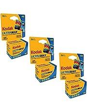 Kodak Ultramax 400 Color Print Film 36 Exp. 35mm DX 400 135-36 (108 Pics) (Pack of 3), Basic