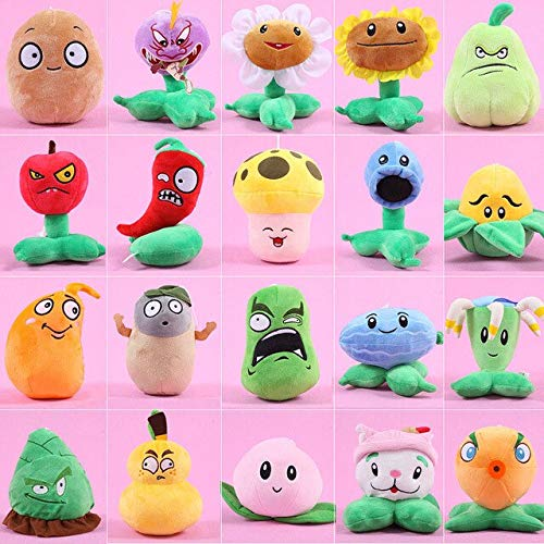 RAFGL Plants Vs Zombies Stuffed Plush Toys Fashion Games PVZ Soft Toys Doll for UFO Catcher Kids Gifts Party Toys Wholesale Tfa1217 Must Haves for Kids 21St Birthday Gifts The Favourite Anime (Wii Games Plants Vs Zombies)