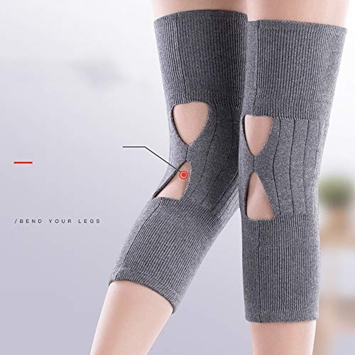 TY BEI Kneepad Kneepad - Cashmere Protection Knee Warm Men and Women Winter Thickening Old Man Cold Leggings Paint wear Joints self-Heating @@ (Color : Black) by TY BEI (Image #2)