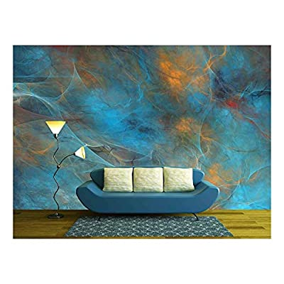 Abstract Shapes Made of Fractal Textures. - Removable Wall Mural | Self-Adhesive Large Wallpaper - 100x144 inches