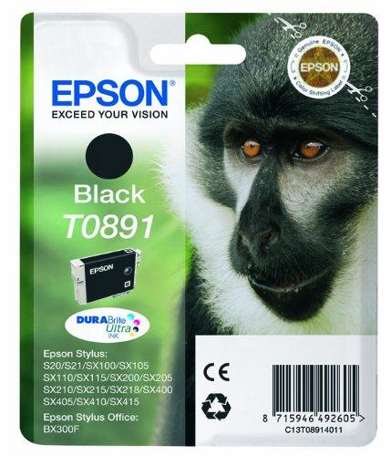Epson Black Ink Cart - EPSON INK CART T0891 BLACK C13T08914011