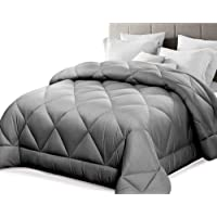 Giselle King Quilt Bamboo Microfibre Quilt 400GSM Doona for All Season Grey