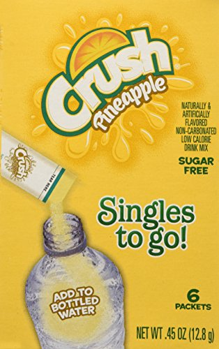 Lot of 3 (6-ct.) Box ~CRUSH PINEAPPLE~ Singles to Go! Sugar Free Drink Mix.