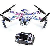 MightySkins Protective Vinyl Skin Decal for DJI Mavic Pro Quadcopter Drone wrap cover sticker skins Blue Petals