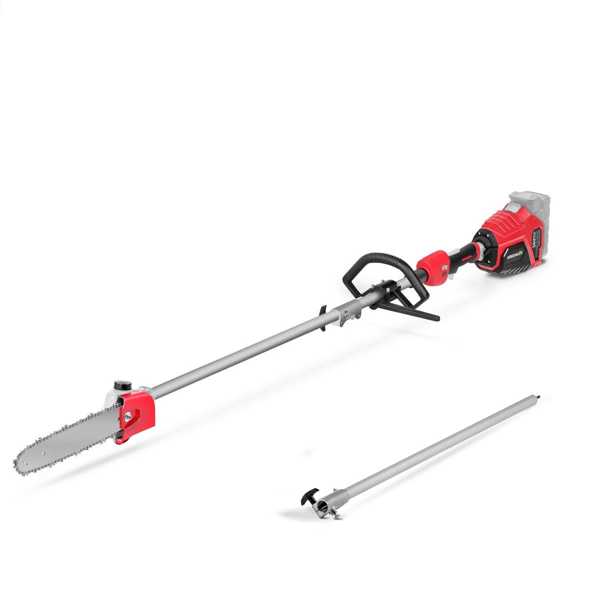 Podadora de altura telesc/ópica con bater/ía de litio de 40V Greencut PP40LI-ION altura m/áxima de corte de 2,65m con la barra extensible