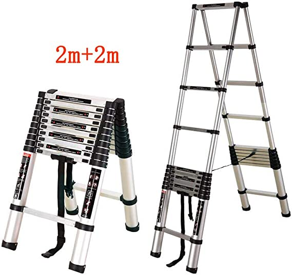 QARYYQ Escalera Plegable Familiar Escalera de Espiga Escalera portátil de ingeniería ático Escalera Taburete: Amazon.es: Juguetes y juegos