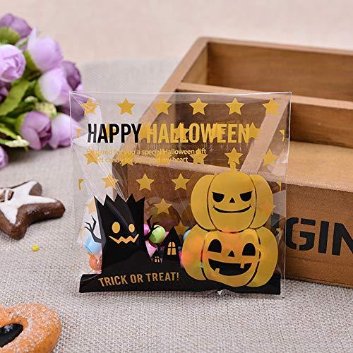 Zehui 100pcs, Bolsas de Caramelo de la Fiesta de Halloween, Bolsa de Caramelo/Galleta de Multistyle, Halloween Bolsos...