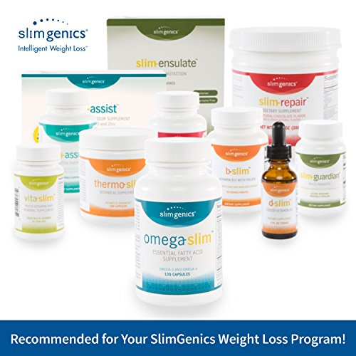 SlimGenics Omega-Slim ™ | with Omega – 3 and 6 Essential Fatty Acids (EFA), Regulate Blood Pressure and Lower Cholesterol, Increase Brain Function, Enteric Coated for Ease of Digestion – 120 count