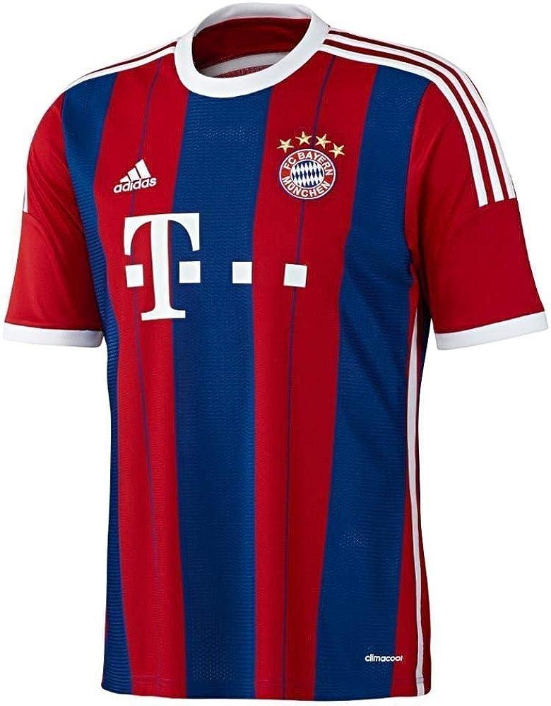 Amazon.com : adidas FC Bayern Munich Youth Home Jersey (Red/Blue ...