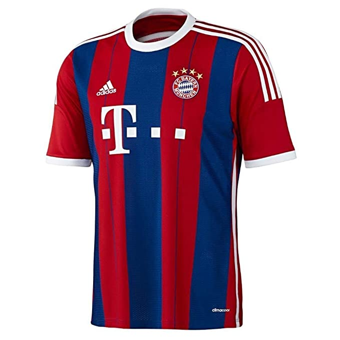 best sneakers 6da0d 2f2bc Amazon.com: adidas FC Bayern Munich Youth Home Jersey (Red ...