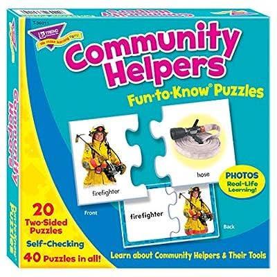 Trend Enterprises Community Helpers Puzzle Set: Toys & Games