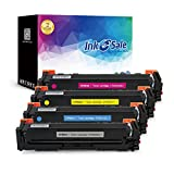 INK E-SALE Replacement for HP 202A CF500A CF501A CF502A CF503A Toner Cartridge for use with HP M254, MFP M280, MFP M281, High Yield 4 Pack
