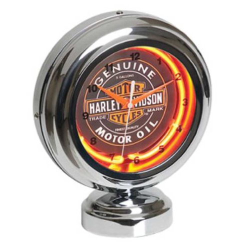 Harley-Davidson Genuine Oil Can Table Top Neon Clock HDL-16621 (Harley Davidson Neon Clock)