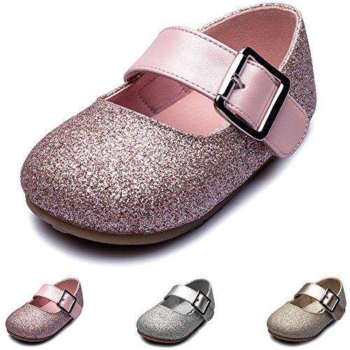 Chiximaxu Maxu Little Girls Adorable Buckle Ballerina Flat (Toddler/Little Kid)