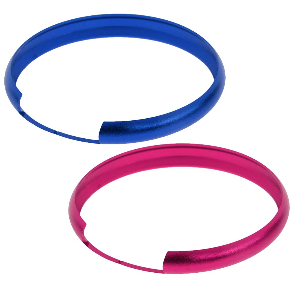 KESOTO Pink Remote Fob Protective Ring Cover For BMW Mini Cooper Blue Smart Key Fob Ring Cover For BMW Mini Cooper