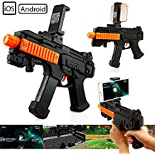 Oct17 AR Gun With Bluetooth For Toy Video Game Mobile IOS Apple Android Smart Phone For Augmented Reality Virtual Reality VR Game Controller Including Games and Lots of Free Apps
